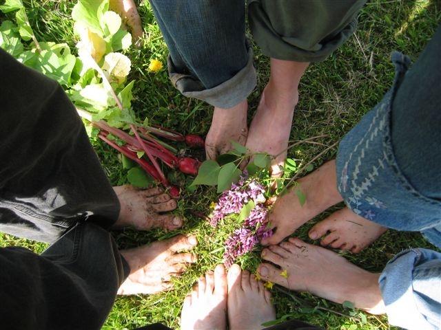 Feet in communion at Inspiration Farm